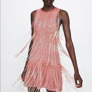 Zara fringe dress